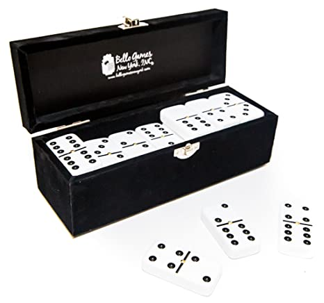Spiele Garment District Double Six White Professional Jumbo Size Tournament Dominoes...