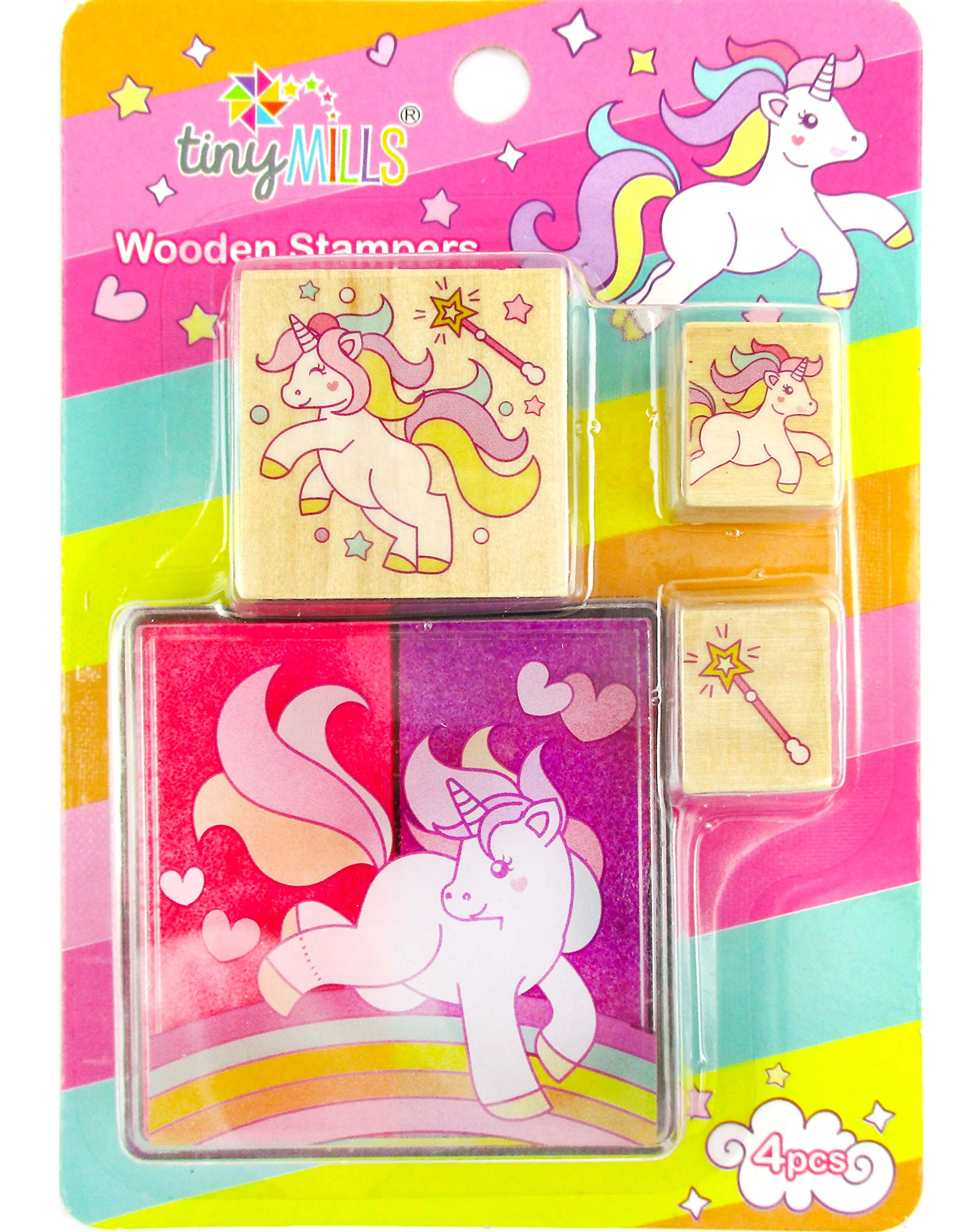 12 Assorted Unicorn Wooden Stamper Sets
