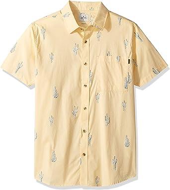 Rip Curl Amigos - Camiseta de Manga Corta con Botones para Hombre: Amazon.es: Ropa y accesorios