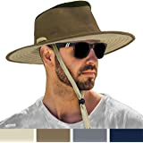 SUN CUBE Sun Hat for Men Outdoor Sun Protection Wide Brim Boonie Hat for Hiking