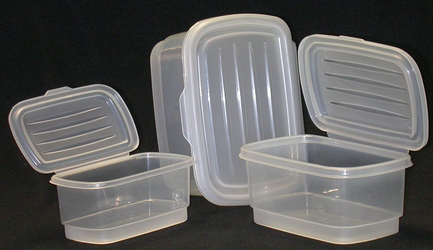 Amazoncom Food Storage Containers Set Nested Attached Lids