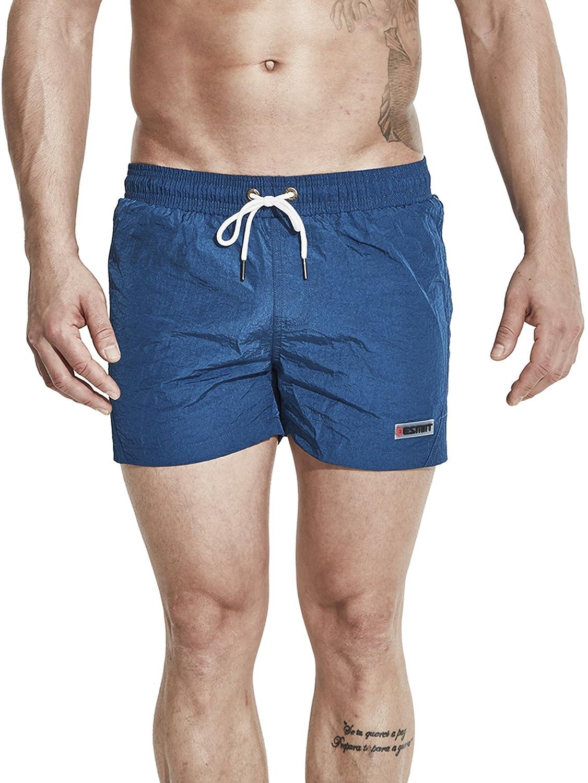 Neleus メンズドライフィットショーツ ポケット付き B073QMVFH1 XL,602# Navy Blue