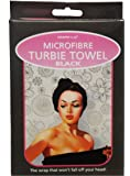 Microfibre Turbie Towel (Black). The wrap that won't fall off your head! by Country Club