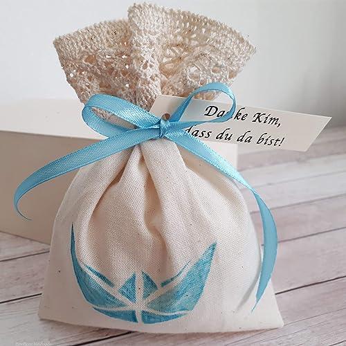 12 Personalisierte Gastgeschenke Geschenksäckchen Danke