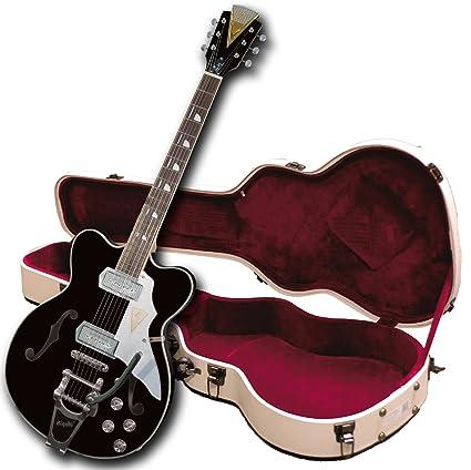 Kay Vintage Reissue K775VBK Jazz II Guitarra eléctrica con Bigsby Tremolo, color negro (reacondicionado