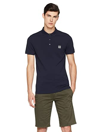 6931ad9c BOSS Men's Passenger Polo Shirt, (Dark Blue 404), X-Small