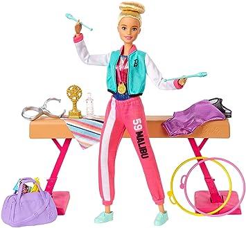Amazon.es: Barbie Olimpíadas, muñeca gimnasta, barra de ...