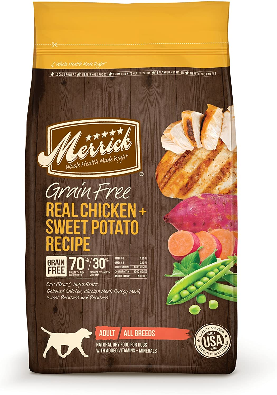 Merrick Grain Free Dry Dog Food Recipes, Chicken, 4 Pound