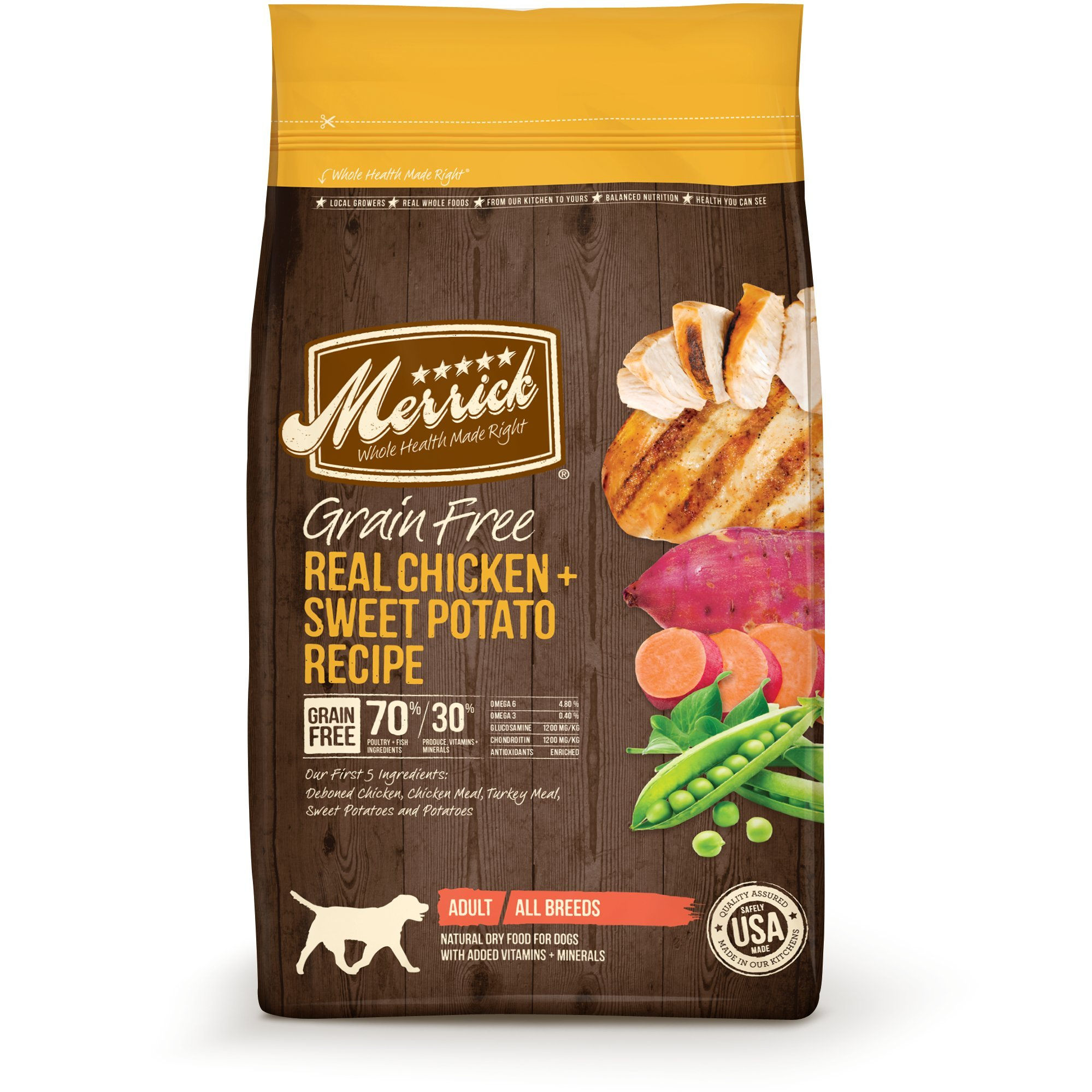 Merrick Grain Free Dry Dog Food Chicken 4 Pound