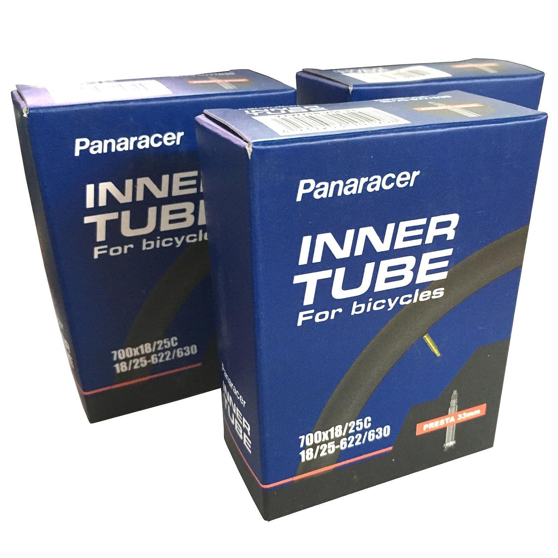 Panaracer 700 x 18-23c Road Bike Inner Tubes - Presta 33mm Valve (Pack of 3)