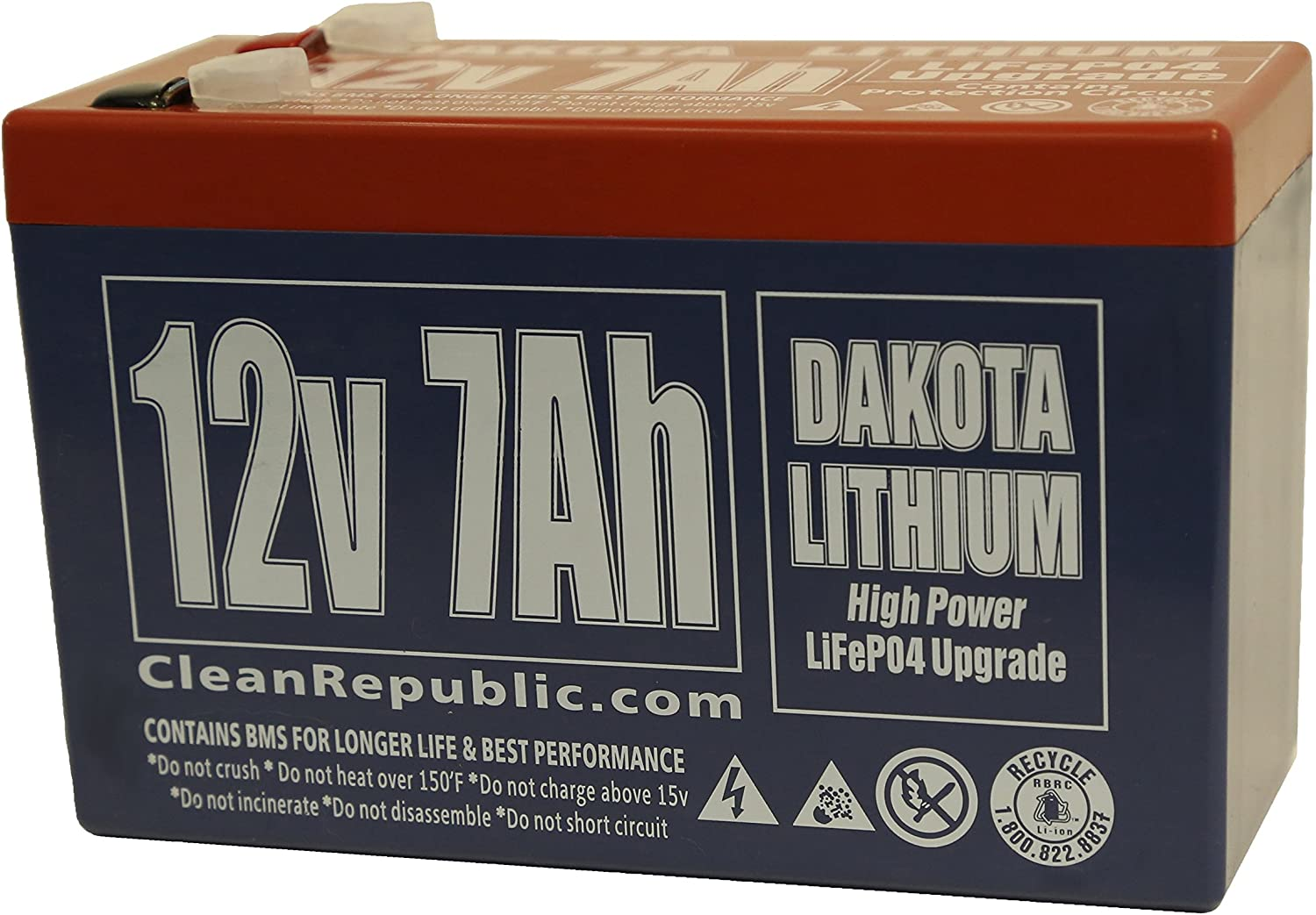 LiFEPO4 12 V 7 Ah 12 Volt Rechargeable Lithium Battery
