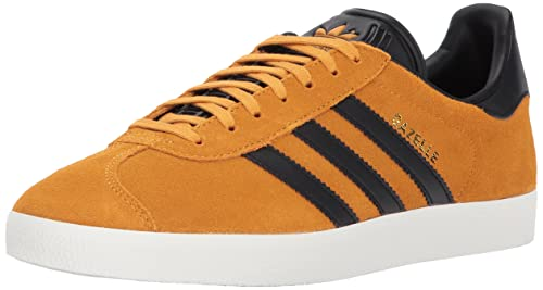 Adidas Mens Gazelle Tactile Yellow Core Black Suede Trainers