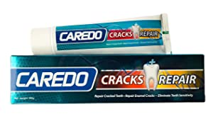 CAREDO Healing Teeth Crack Toothpaste, The ONLY Toothpaste Repairing Cracked Teeth Enamel Cracks, Cure Tooth Sensitivity, Root Damage Teeth Displacement Treatment, Remove Pigment in Crack 100g 1 Count