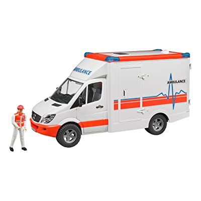 Bruder 02536 MB Sprinter Ambulance with Driver Vehicle: Toys & Games