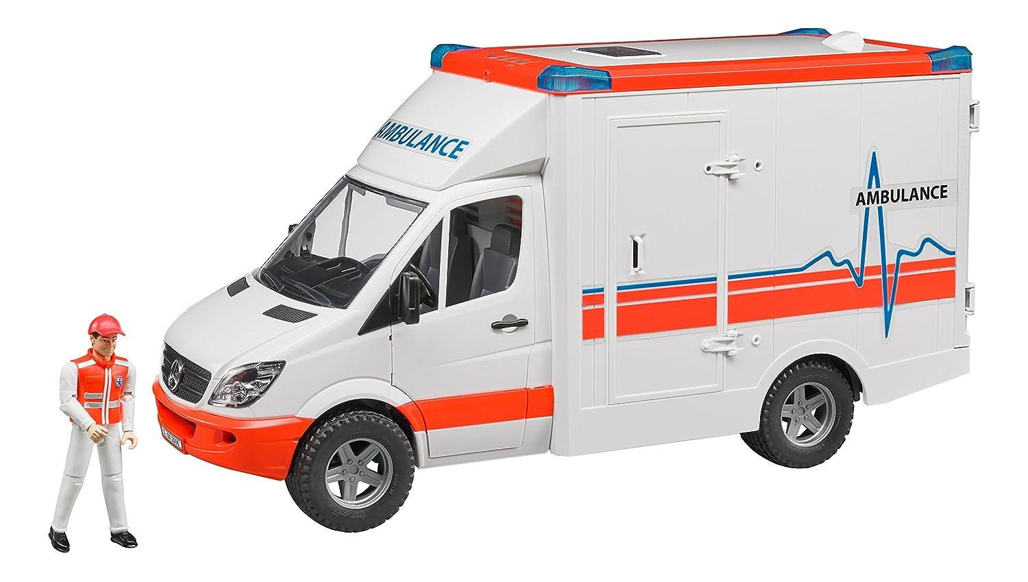 BRUDER - 02536 - Véhicule Ambulance MERCEDES BENZ Sprinter avec ambulancier | Supérieure