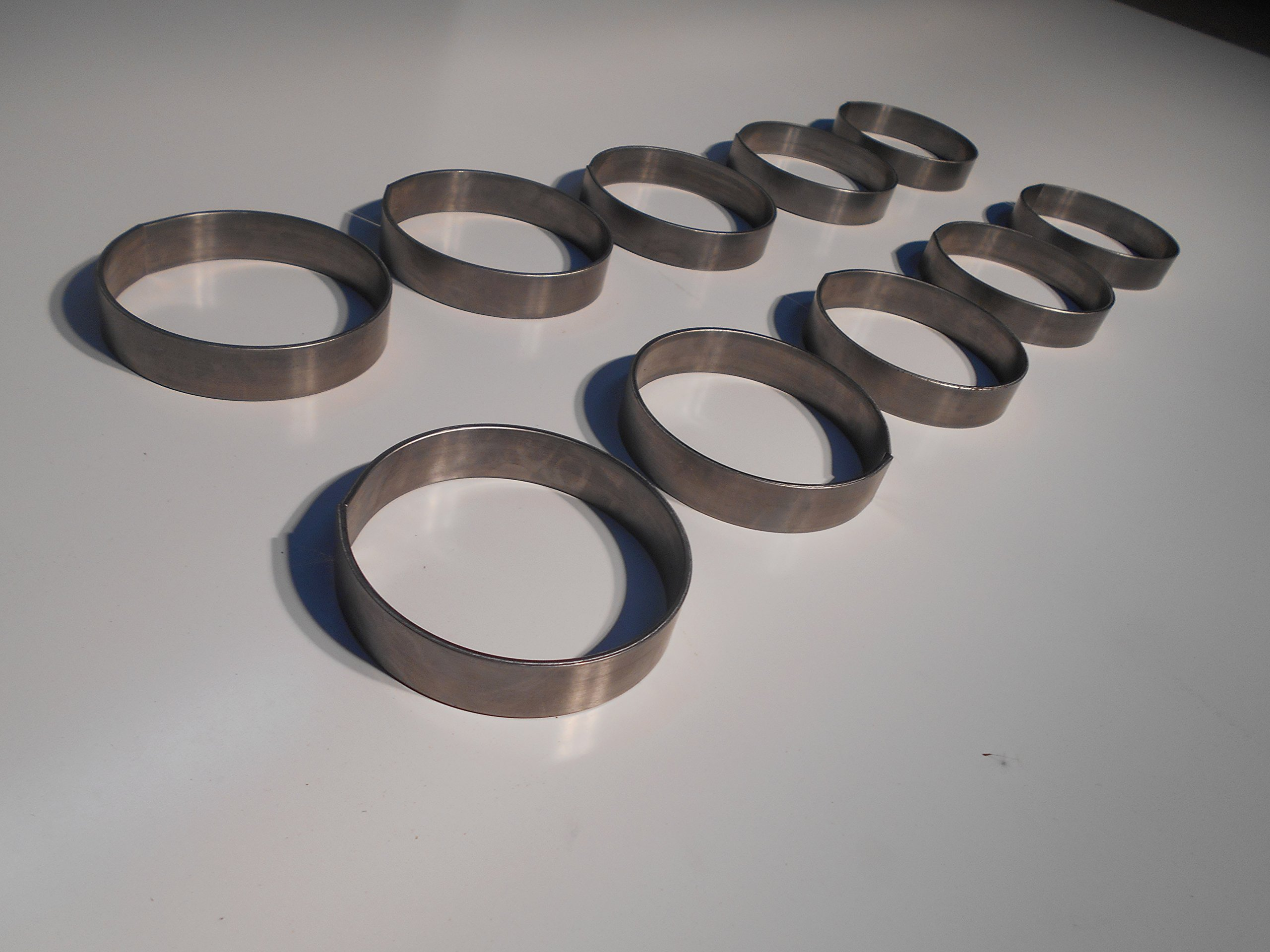 Welded Steel Rings 4.5'' ID x 1'' wide 4.75'' OD Pack of 10- Made in USA