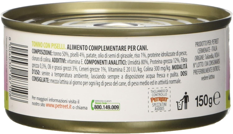 PETREET spezzatini Tonno con PiSeLLi – confez. de 12 Piezas x ...