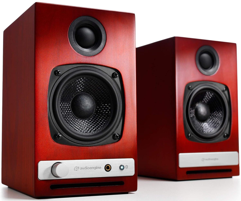 Altavoces de Escritorio inalámbricos Audioengine HD3 60W | Amplificador Analógico y DAC Incorporado de 24 bits USB | aptX HD Bluetooth, USB, RCA y ...