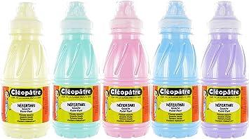 Cleopatre - PGN250x5P - Pack de 5 frascos de pintura guache, 250 ...