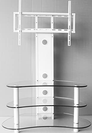 White Tv Stand With Bracket White Tv Stand With Mount Amazon Co Uk