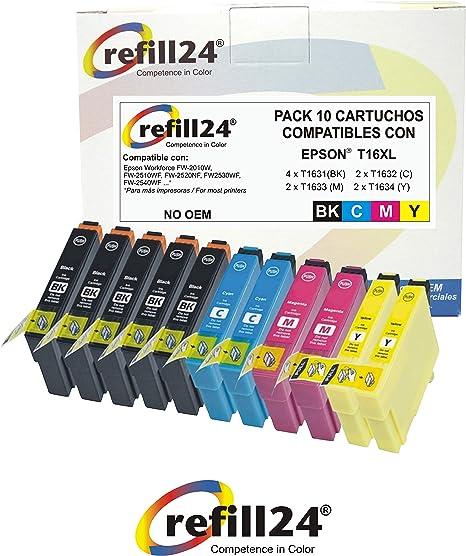 T16 Cartuchos de Tinta Compatible para Epson T16 / XL 10 X Epson ...
