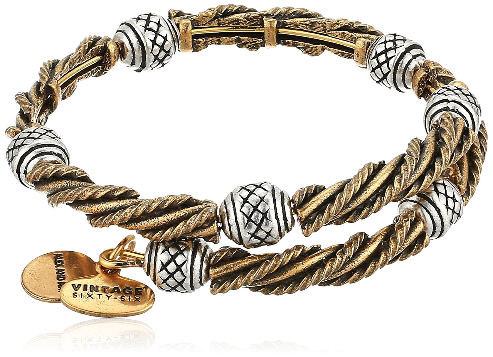 Alex and Ani Relic Two Tone Wrap Bracelet