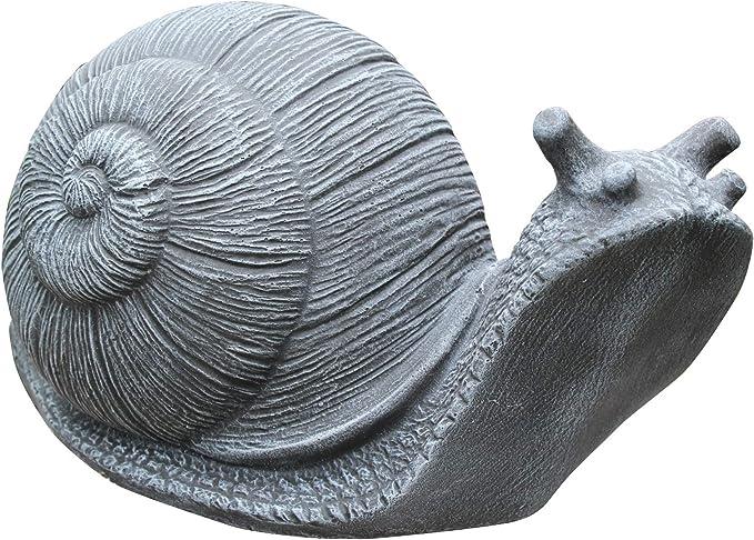 Steinfigur Schildkröte Schnecke Steinguss Steinskulptur Gartenfigur Dekoration