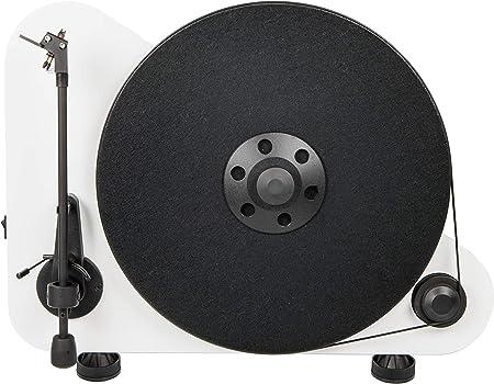 Pro Ject Vt E Bt Vertikaler Plug Play Plattenspieler Mit Bluetooth Weiß Audio Hifi