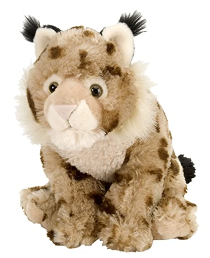 Wild Republic Lynx Plush, Stuffed Animal, Plush Toy, Gifts for Kids, Cuddlekins
