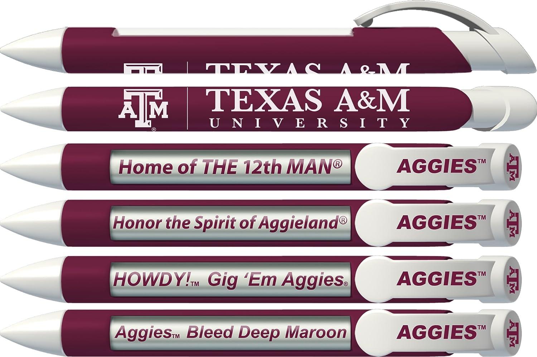 Burgundy Inc Click-Action Gel pen Texas A/&M University LXG