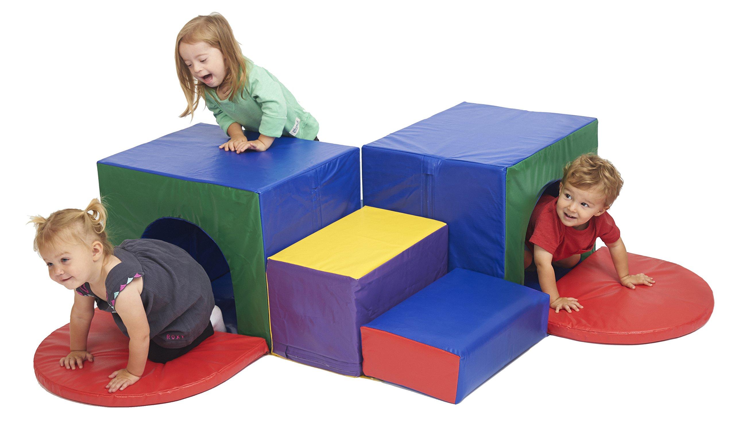 ECR4Kids SoftZone Corner Tunnel Maze Foam Play Climber by ECR4Kids (Image #2)