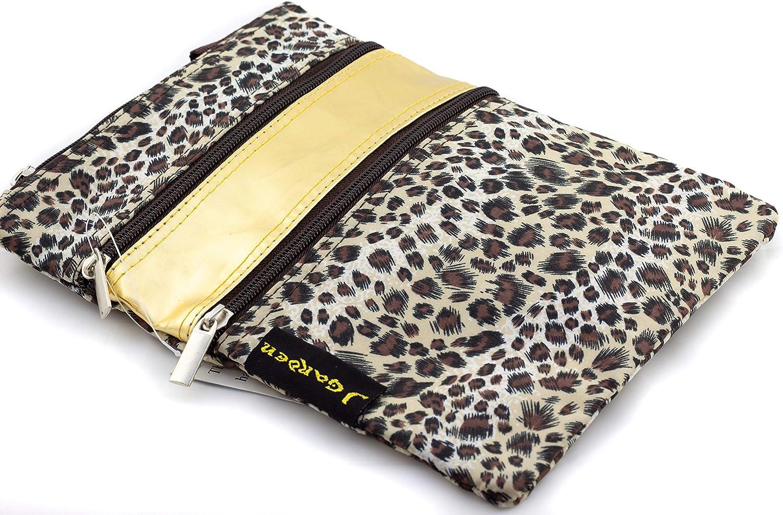 Leopard Print - Gold Trim Uni Collections Crossbody Bag