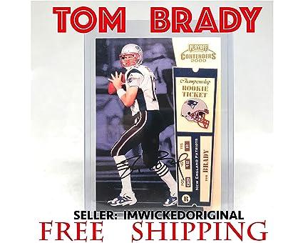 Amazoncom Playoff 2000 Contenders Tom Brady Reprint Auto