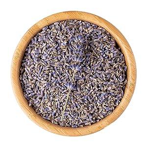 Organic Lavender Flowers Dried, Lavender Bud, Reseable Bag - Bulk, Gluten-Free, Non-GMO, Fresh Fragrance Natural Premium Grade, Perfect for Tea, Lemonade, Soap, Baking, Baths (100g)