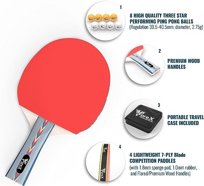élastique Doux aspiré Type Sport Fitness VICV 2RO 14 PCS Table Tennis Trainer Set
