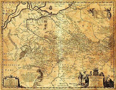 Amazoncom Ukraine Panoramic Map 16x24 Giclee Gallery Print