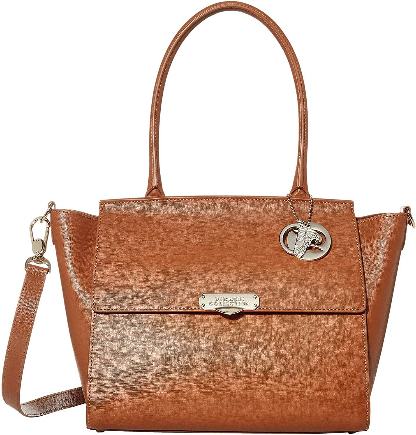 Versace Collection Leather Top-Handle Satchel