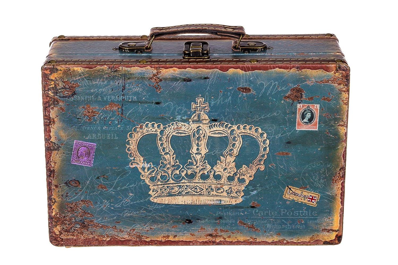 Kofferset Holztruhe mit edlem Leder bezogen Truhe Kiste SJ 1287 Koffer