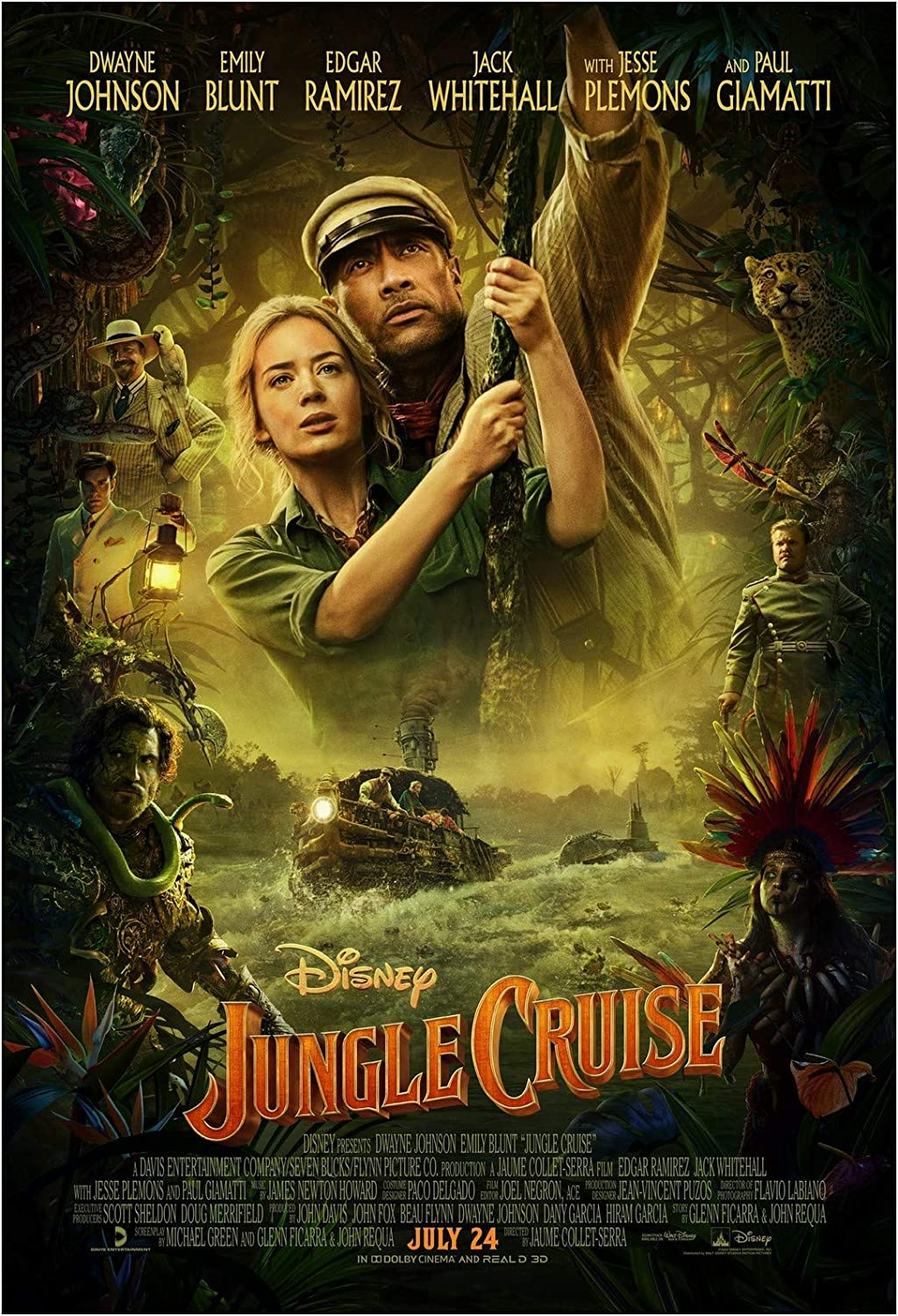 Amazon.com: Jungle Cruise Movie Poster 24 x 36 Inches Full Sized ...