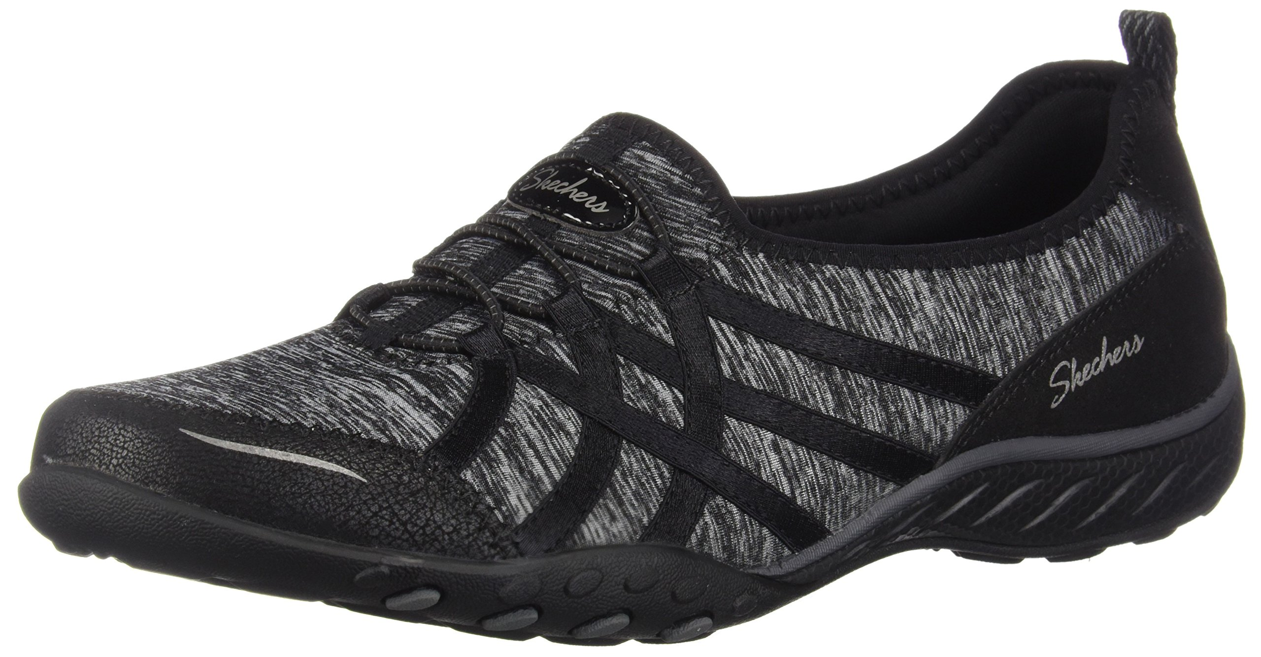 Skechers Relaxed Fit Breathe Easy Untroubled Womens Slip On Sneakers Black 9