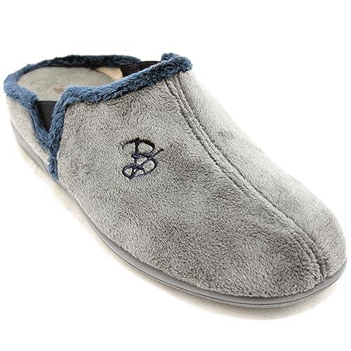 Vulcabicha 4665-C - Zapatillas de Estar por Casa Deportivas Abiertas Grises y Azul Marino - Gris, 44: Amazon.es: Zapatos y complementos
