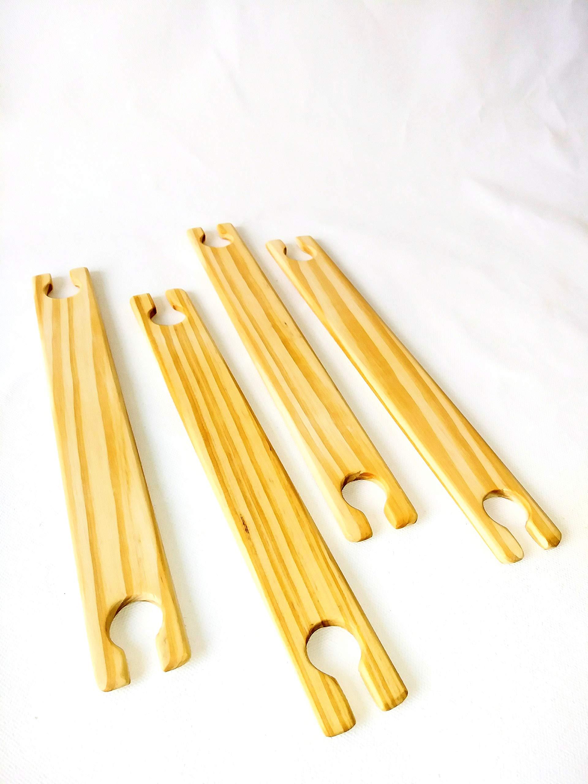 4 Pack 16 inch weaving stick shuttles
