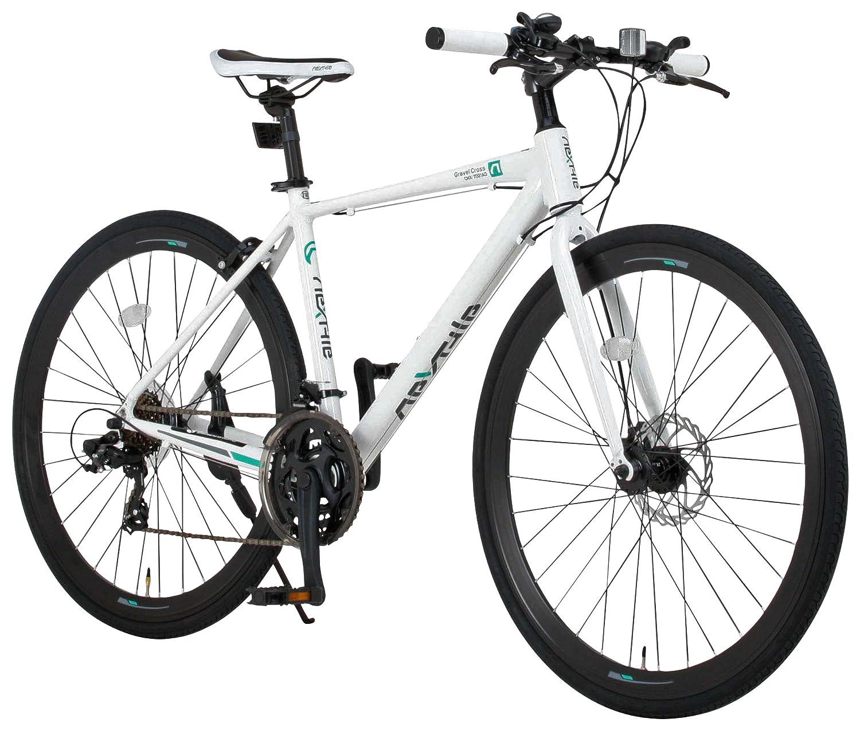 NEXTYLE(ネクスタイル) ディスクブレーキ シマノ製21段変速 自転車 27インチ 700c CNX-7021DC B01N23YOYMホワイト