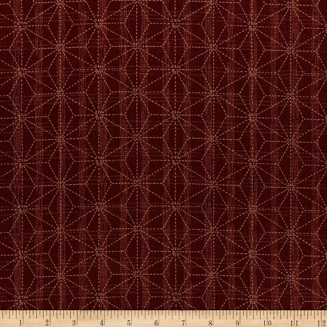 Kaufman Sevenberry Nara Homespun Geometric Red Quilt Fabric By The Yard