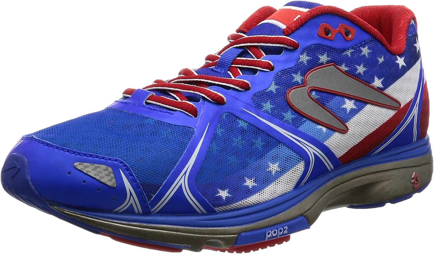 Mens Leisure Sports Shoes Patriotic USA Blue Red Line Fashion Running Shoe