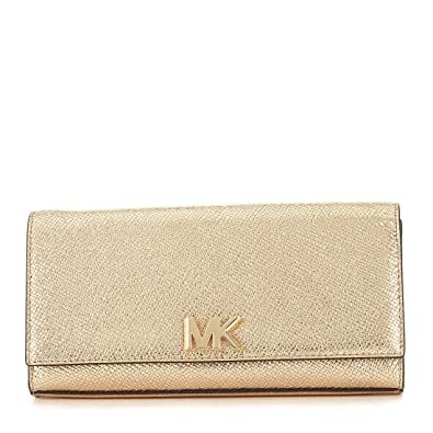 5879f16af7a6 MICHAEL Michael Kors Mott East-West Clutch - Pale Gold  Handbags ...