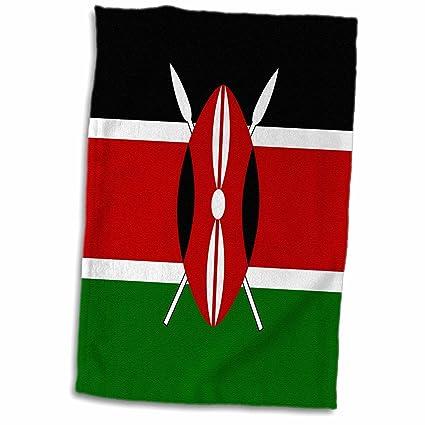 Amazon com: 3D Rose Flag of Kenya - Kenyan Black Red Green