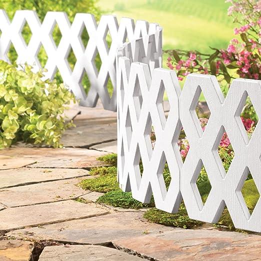 Parkland Celosía flexible para valla para exteriores, resistente a la intemperie, de plástico, delimitación del césped para jardín, límite para plantas: Amazon.es: Jardín