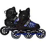 JASPO RADAR ADJUSTABLE INLINE SKATES WITH 100 MM PU WHEEL