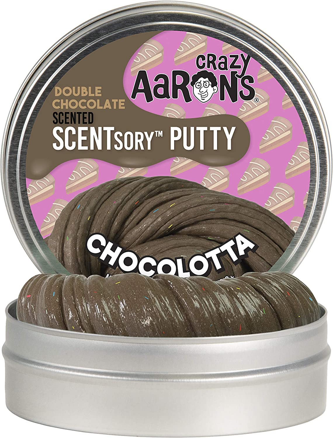 "Crazy Aaron's SCENTSory Thinking Putty - Chocolatta 2.75"" Tin - Double Chocolate Scented"